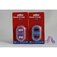 Good Living Am/Pm Pill Box (Blue,Purple)