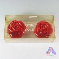 Crystal Candle - 2 Pcs. Rose Shape