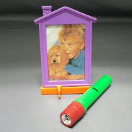 Pop Colored Photo Frame With Detachable Flashlight