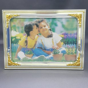 GOLD & SILVER PHOTO FRAME 5 X 7