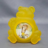 Frosted Animal Photo Frame Bear