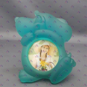 FROSTED ANIMAL PHOTO FRAME DOG
