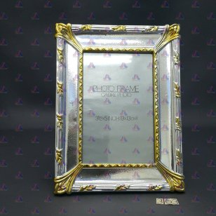 PHOTO FRAME SILVER & BRASS COLOR 3R