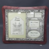 Family Collage Photo Frame Red