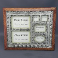 Family Collage Photo Frame Brown