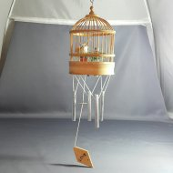BIRD CAGE W/ WIND CHIME