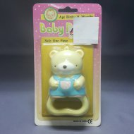 BABY RATTLE BEAR YELLOW