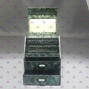 DELUXE MUSICAL JEWELRY CHEST GREEN