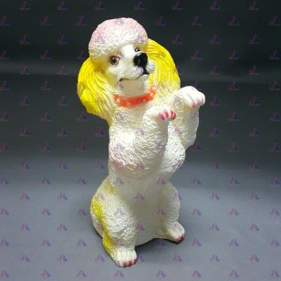 SQUEEZE TOY DOG POODLE
